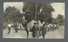 Galva ILLINOIS RP 1913 CIRCUS PARADE Camels Wagon Camel nr Kewanee Galesburg