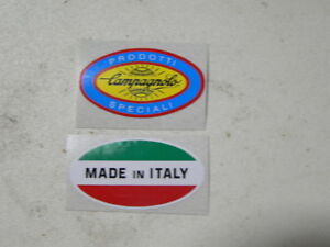 """3 see photo One 10/"""" New-Old-Stock Three Two 4/"""" CAMPAGNOLO Stickers"""