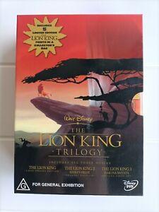 THE LION KING Trilogy Box Set DVD 3 Disc Set Region 4 Free Postage !!