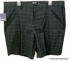 Chaps Golf Shorts Mens Size 40 Measures 42 inches Black Gray Plaid Athletic Nwt