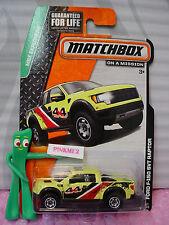 2014 Matchbox #57 FORD F-150 SVT RAPTOR☆Yellow 4x4 Truck;☆MBX EXPLORERS ☆