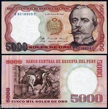 PERU 5000 soles de oro 1985 Pick 117c   SC  /  UNC