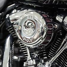 S&S Chrome Mini Teardrop Stealth Air Cleaner Kit For Harley-Davidson M8 2017-Up