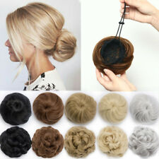 Lady Updo Cover Drawstring Elastic Scrunchies Bun Hair Extensions As Human USA C