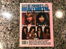 Hit Paraders Heavy Metal Hot Shots Magazine! July 1986. Iron Maiden Wasp Kiss