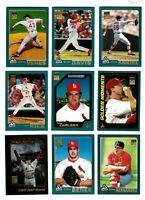 2001 Topps ST. LOUIS CARDINALS Team Set 36 Cards NM/MT