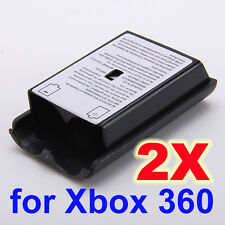 2x Battery Pack Cover Shell Case Kit for Xbox 360 Slim Wireless Controller Black