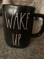 Rae Dunn Black Wake Up Mug *limited Edition*