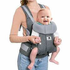 Baby Carrier, 2-in-1 Convertible Carrier Ergonomic, Soft Breathable Comfortable