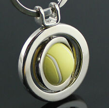 Sports Rotating 3D Tennis Keychain Keyring Key Chain Ring Key Cute Gift