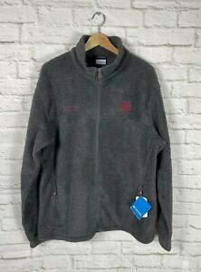 NEW Columbia Texas A&M Aggies Gray Fleece Full Zip Jacket Size 1X
