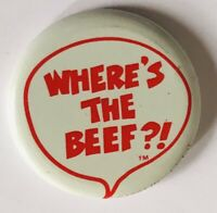 Wheres The Beef Retro Advertising Brand Pin Badge Rare Vintage (R8)