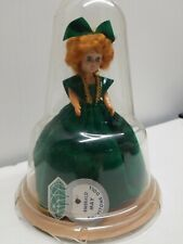 Vintage Emerald May Birthstone Doll 7� Rubber Band Attachment Inside w/ Dome