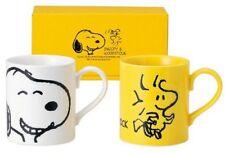 Peanuts Snoopy Face Pair Mug Snoopy & Woodstock 629700 made Japan* in