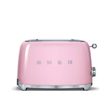 Smeg TSF 01 pkuk Rose Grille-Pain 2 Fentes Xtra Wide Bagel Rétro Années 50 2 ans de garantie
