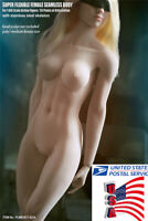 """US TBLeague Phicen S22A 1/6 Female Pale Body Model Middle Bust For 12"""" Figure"""