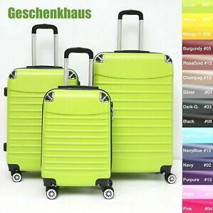 Koffer B-102 Hartschalenkoffer Trolley Kofferset Reisekoffer M-L-XL-Set