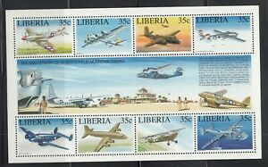 Liberia # 1164 MNH 1994 Roberts Field 50th Anniversary Airplane