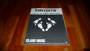 ROBERT PARKER BAREFOOTIN ORIGINAL UK 1966 ISLAND MUSIC SHEET MUSIC SOUL