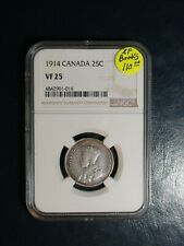 1914 Canada Twenty Five Cents NGC VF25 25C SILVER Coin PRICED TO SELL NOW!