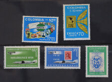 SOS 041 Stamps on Stamps 1970 Colombia (MNH) set