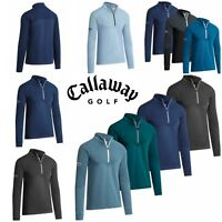 Callaway 2019 / 2020 Pullover 1/4 Zip Ribbed Ottoman Thermal Fleece Golf Sweater