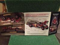 "Danbury Mint ""1926 Mack AC Rotary Pumper!"" Brochure!"