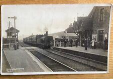 Vintage Postcard, Bucknell, Railway Station, Steam Loco, Shropshire, Early RP