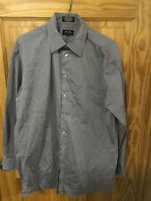 Axcess by Claiborne Dress Shirt - 15 1/2 (32-33) 100% Wrinkle Free Cotton Gray