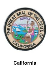 """CALIFORNIA STATE SEAL EMBROIDERED PATCH 3""""  -  NEW"""