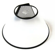 Elizabethan Pet Wound Healing Cone E- Collar White with Black