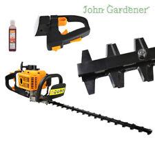 "HQ 2 HP Petrol Hedge Trimmer 22,5"" Double Sided Blade ""John Gardener"" / Oil Free"