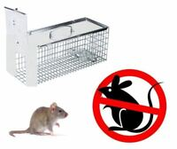 NEW METAL CAGE TRAP RATS HUMANE NO POISION RODENT PEST SNAP LIVE CATCH HUMANE