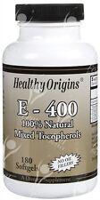 Pure Natural Vitamin E, 400iu x180caps;- HAIR - SKIN - NAILS