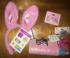 Claire's Easter Earring Glitter Purse Bag Flower Hair Clip Justice Stickers