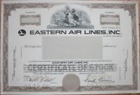 SPECIMEN Stock Certificate: 'Eastern Air Lines, Inc.' - Airline/Aviation