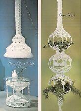 Macrame Love Nest, Table & Lamp Patterns - #OPUS4 Fiber Form & Fantasy - Book