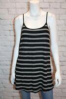 NOW Brand Black White Striped Loneline Tank Cami Top Size 20 BNWT #SR22