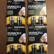 16 x Duracell AAA Plus Power Alkaline Batteries Duralock LR03 MN2400 Triple A