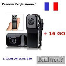 Mini DV Caméra Sport Espion MD80 + Micro SD HC 16 Go Détection de Présence 16Go