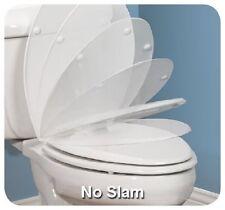 (3) ea Bemis Mayfair White Round Plastic Whisper Close Toilet Seats
