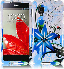 For Sprint LG Optimus G LS970 HARD Case Snap On Phone Cover Blue Splash
