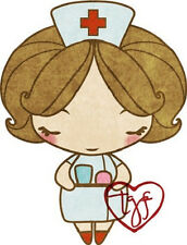 NURSE ANYA-The Greeting Farm Cling Rubber Stamp-Stamping Craft-Card-RETIRED