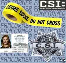 Les experts Lot catherine willows ecusson LVPD bande police CSI las vegas lot