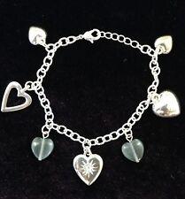 Avon silver plated Sydnee Cluster heart bracelet