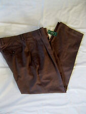 NWT's LL Bean Natural Fit Dress Chino Pants 33 x 30 Pleated Front Brown Plaid