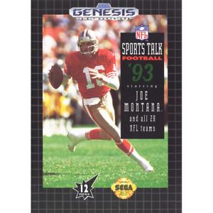 NFL Sports Talk Football '93 Starring Joe Montana - Sega Genesis