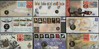 1992 - 2007 GB Royal Mint Commemorative First Day Coin / Medal Covers FDC  Multi
