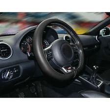 Sumex Comfort Grip italiano hecha a mano de cuero negro cubierta del volante-medio