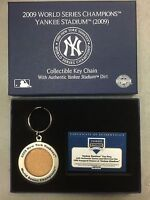 New York Yankees Authentic Game Used Dirt Keychain 2009 Inaugural Season